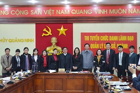 Quảng Ninh là một trong số các địa phương thi tuyển cán bộ lãnh đạo. Ảnh QN