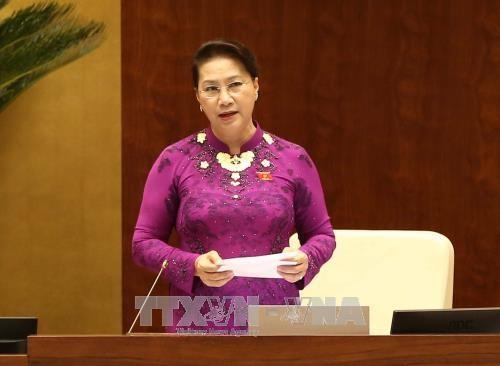 Chủ tịch Quốc hội Nguyễn Thị Kim Ngân. Ảnh: Thông tấn xã Việt Nam