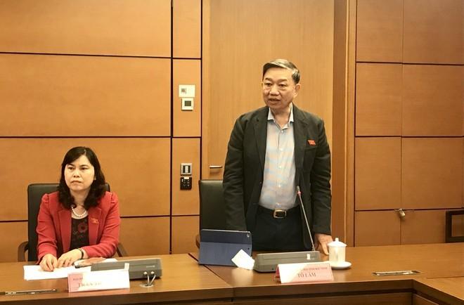 Đại tướng Tô Lâm, Bộ trưởng Bộ Công an phát biểu tại phiên thảo luận chiều 2/11