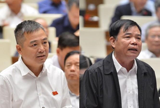 Đại biểu Quốc hội Nguyễn Lân Hiếu và Bộ trưởng Nguyễn Xuân Cường