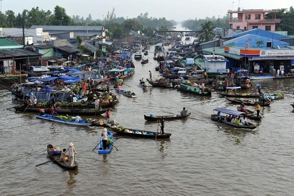 Kiểm toán ba nước hợp tác kiểm toán lưu vực sông Mê Công. Ảnh IT
