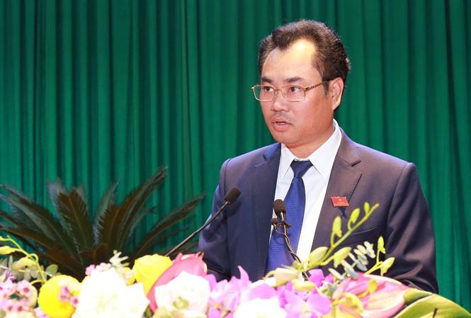 Ông Trịnh Việt Hùng Chủ tịch UBND tỉnh Thái Nguyên (Ảnh Báo Thái Nguyên)