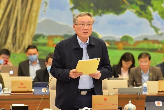 Chánh án TAND tối cao Nguyễn Hoà Bình. Ảnh QH