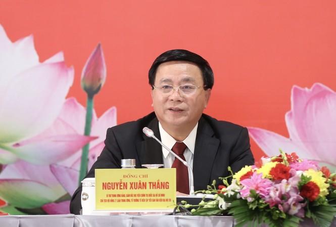 Ông Nguyễn Xuân Thắng, Bí thư Trung ương Đảng, Giám đốc Học viện Chính trị quốc gia Hồ Chí Minh, Chủ tịch Hội đồng Lý luận Trung ương. Ảnh Như Ý