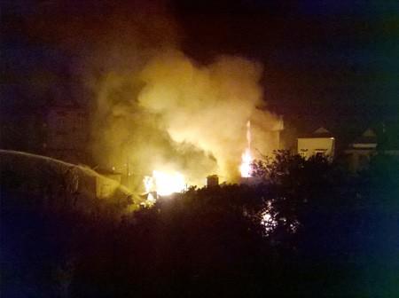 Hình ảnh vụ cháy. Ảnh: TN