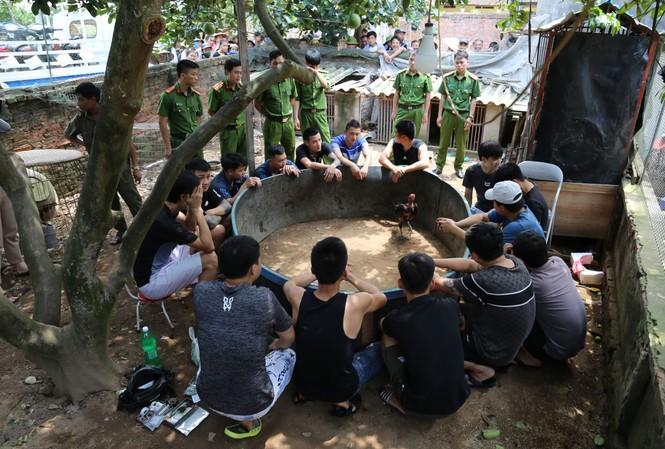 Công an huyện Thuận Thành (Bắc Ninh) bắt quả tang các đối tượng đánh bạc dưới hình thưc đá gà