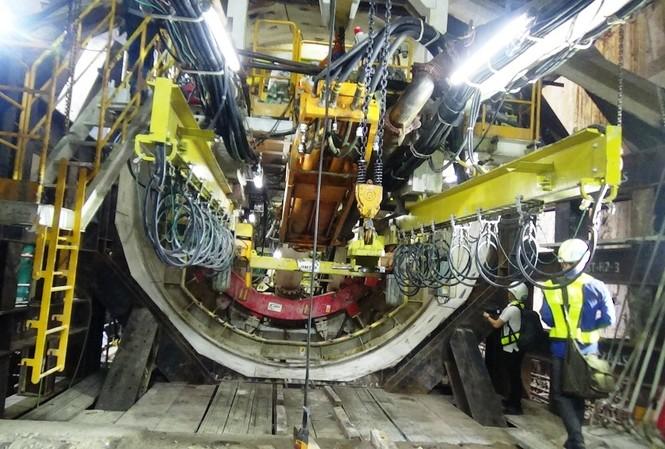 Robot khổng lồ khoan hầm metro thứ hai ở Sài Gòn