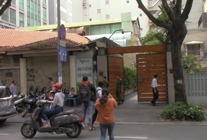 Căn nhà của ông Lê Tấn Hùng tại TPHCM bị khám xét.