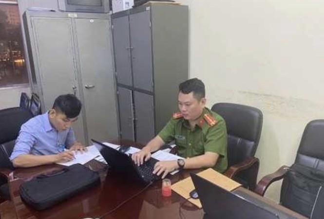 Hồ Thanh Phương tại công an.