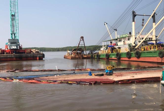 Khu vực các nạn nhân mất tích khi trục vớt tàu 8.000 tấn.