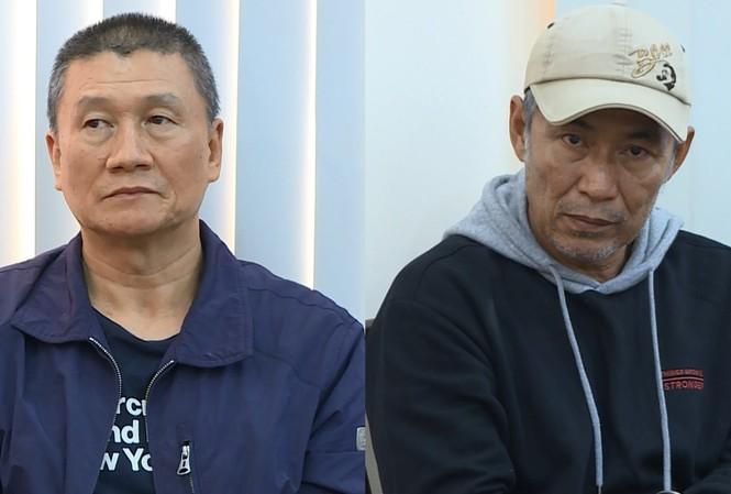 Hai đối tượng Teng Tien và Chen Chih Hsiung tại công an.