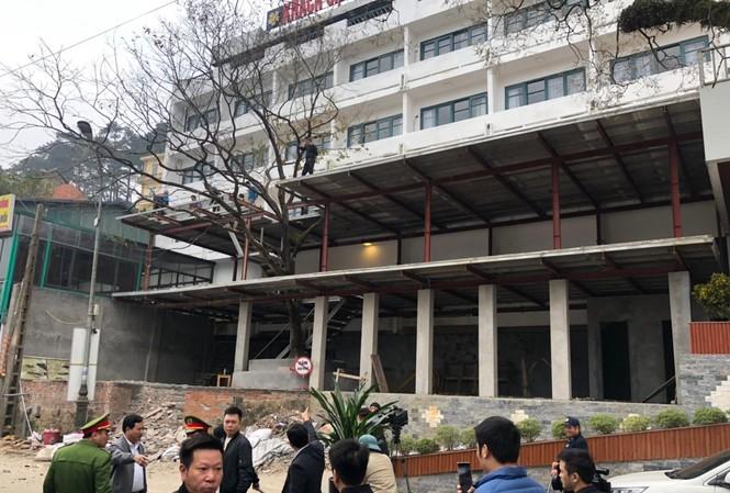 Cưỡng chế công trình vi phạm thuộc Khách sạn Ngôi sao