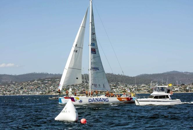 Thuyền buồm mang tên Đà Nẵng – Việt Nam trong chặng đua Sydney – Hobard (Úc, ngày 30/12/2015) - ảnh: BTC