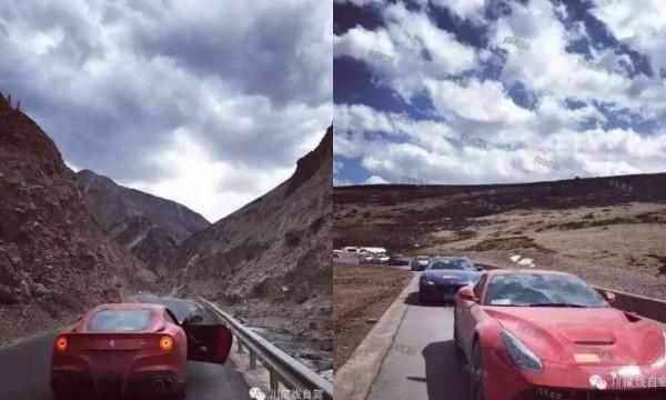 Cưỡi Ferrari 20 tỉ trên cung đường nguy hiểm nhất Trung Quốc
