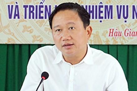 Chiều nay triển khai khai trừ Đảng ông Trịnh Xuân Thanh