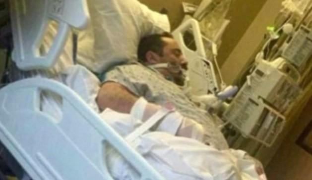 Anh Michael Berger trên giường bệnh.