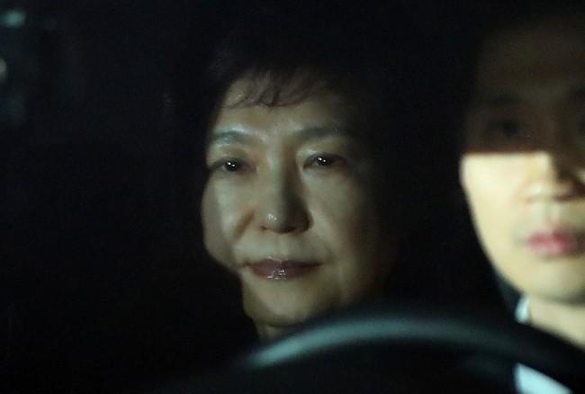 Bà Park bị đưa đến trại giam hồi cuối tuần trước. Ảnh: Yonhap