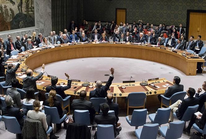 Hội đồng Bảo an Liên Hợp Quốc biểu quyết áp dụng nghị quyết trừng phạt mới nhằm vào Triều Tiên hôm 5/8. Ảnh: AP