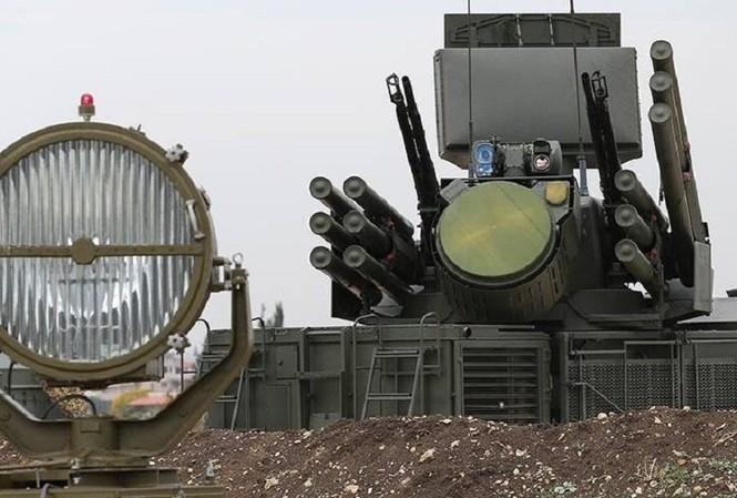 Hệ thống phòng không tại căn cứ Hmeymim. Ảnh: Bộ Quốc phòng Nga