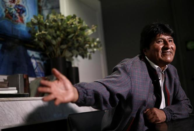 Ông Morales phát biểu từ Mexico. Ảnh: Reuters