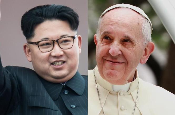 Chủ tịch Kim Jong-un và Giáo hoàng Francis.