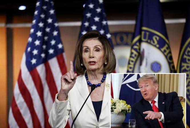 Chủ tịch Hạ viện Mỹ Nancy Pelosi và Tổng thống Mỹ Donald Trump. Ảnh: AP, Xinhua.