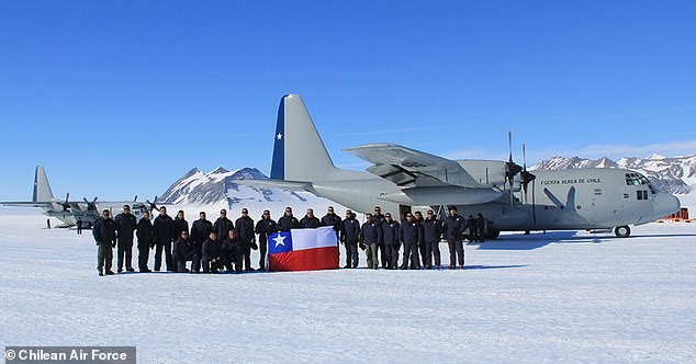 Chiếc C-130 của Không quân Chile.