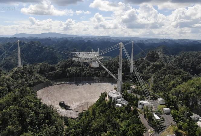 Hình ảnh kính viễn vọng Arecibo ngày 7/11. Ảnh: Reuters