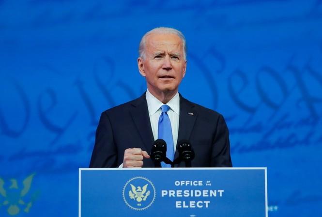 Ông Biden phát biểu ngày 14/12. Ảnh: Reuters