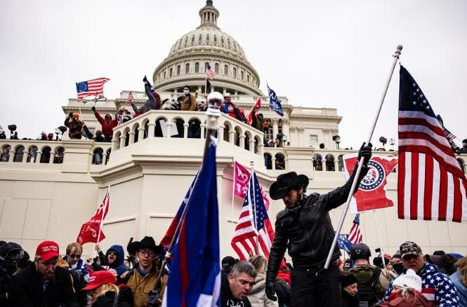 Điện Capitol bị người biểu tình tấn công ngày 6/1. Ảnh: Getty