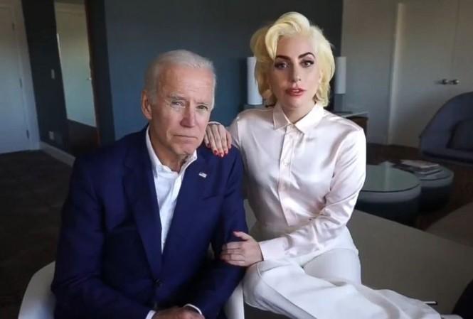 Ông Joe Biden và nữ ca sĩ Lady Gaga. Ảnh: Twitter