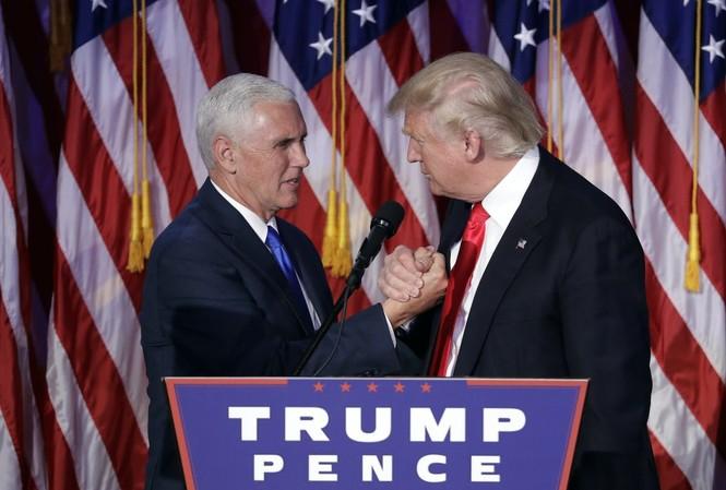 Phó Tổng thống Pence và Tổng thống Trump. Ảnh: AP