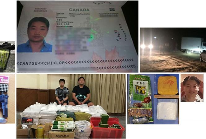 Hộ chiếu của Tse Chi Lop và một số tang vật của các vụ án ma túy. Ảnh: Reuters.