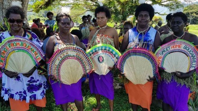 Phụ nữ Bougainville dự một lễ kỷ niệm hòa giải diễn ra trong tháng 11. Ảnh: Getty Images.