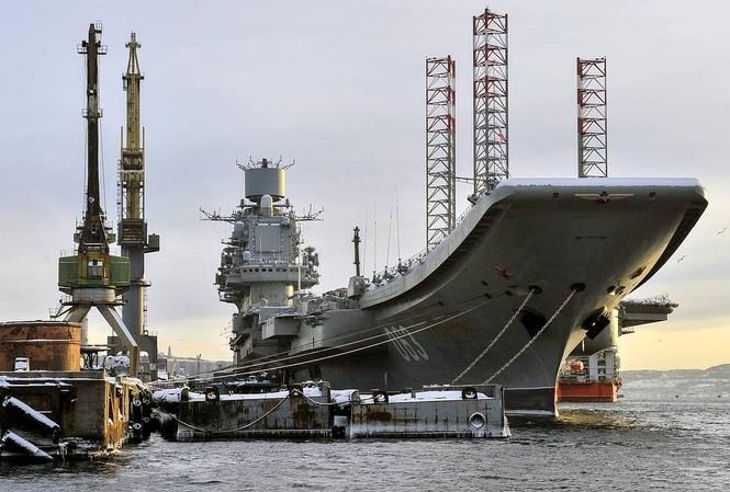 Tàu sân bay Đô đốc Kuznetsov. Ảnh: TASS.