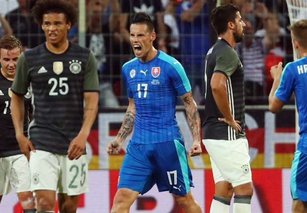Slovakia đã đánh bại Đức ở loạt trận giao hữu. (Nguồn: Getty)