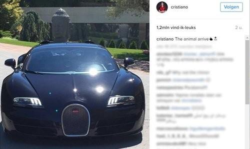 Ronaldo khoe siêu xe mới trên trang mạng cá nhân