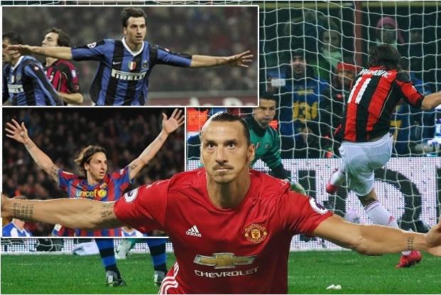 Ibrahimovic rất có duyên ghi bàn ở các trận derby.