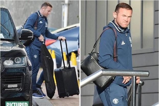 Rooney lủi thủi tới khách sạn Lowry.