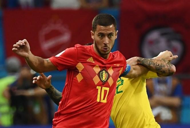 Hazard không có tên trong đội hình tiêu biểu tại tứ kết World Cup 2018 do Goal bình chọn.