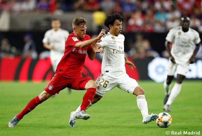 Takefusa Kubo đã thể hiện tốt trước Bayern Munich.
