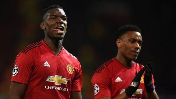 Pogba và Martial sẽ vắng mặt ở trận đấu với West Ham vì chấn thương.