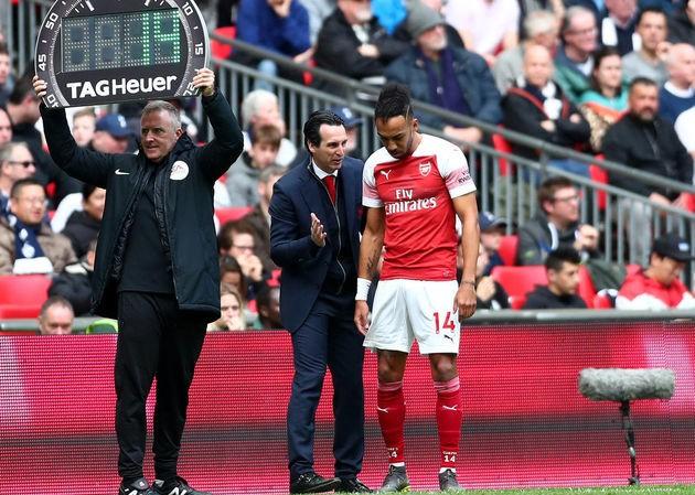 Pierre-Emerick Aubameyang không vui với thành tích của Arsenal thời gian gần đây.