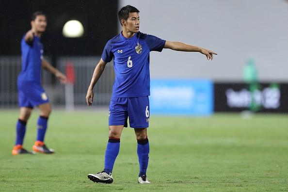 Tiền vệ Sarach Yooyen của đội tuyển Thái Lan.