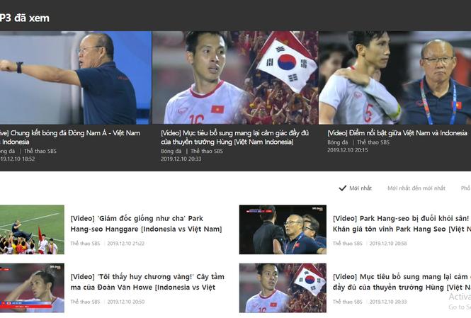 Báo chí Hàn Quốc liên tục đăng bài về U22 Việt Nam. Ảnh chụp màn hình.