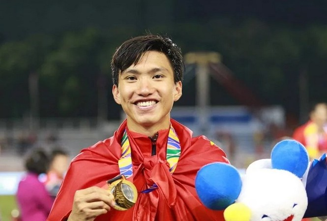 Đoàn Văn Hậu đã thi đấu ấn tượng tại SEA Games 30.