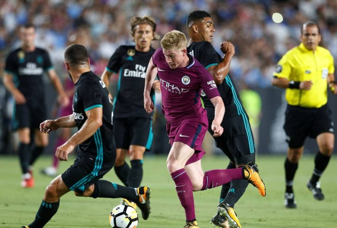 Man City từng thắng Real Madrid 4-1 ở ICC Cup 2019.