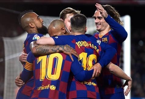 Barcelona hiện đang dẫn đầu trên BXH La Liga.