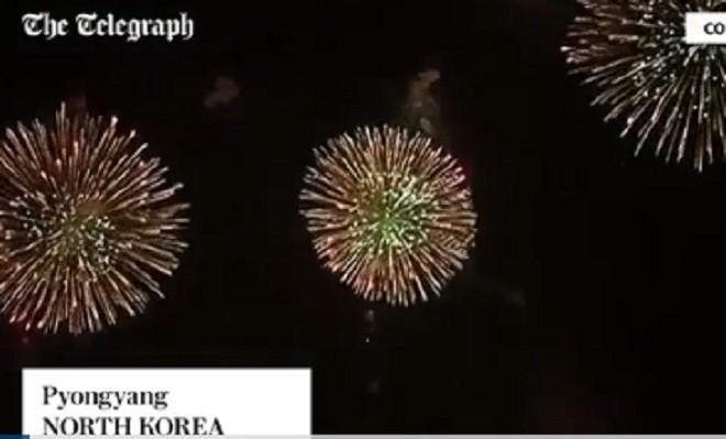 Triều Tiên bắn pháo hoa hoành tráng mừng năm mới
