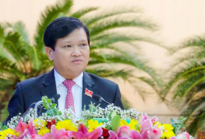 Ông Lê Nho Trung, Chủ tịch HĐND TP Đà Nẵng phát biểu khai mạc kỳ họp.